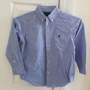Ralph Lauren size 7 buttoned down shirt.
